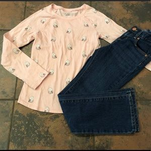 Justice & old navy outfit size 7